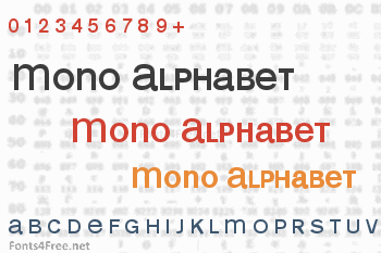Mono Alphabet Font