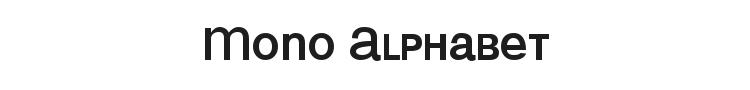 Mono Alphabet Font Preview