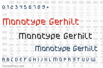 Monotype Gerhilt Font