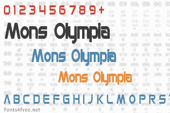 Mons Olympia Font