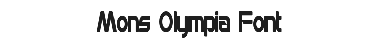 Mons Olympia Font Preview
