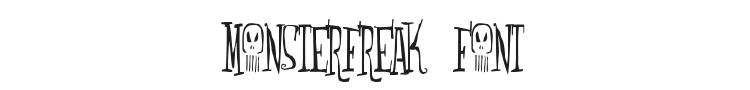 Monsterfreak Font Preview