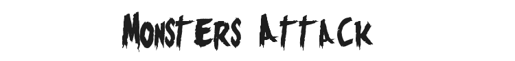 Monsters Attack  Font Preview
