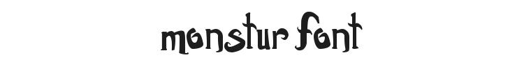 Monstur Font Preview