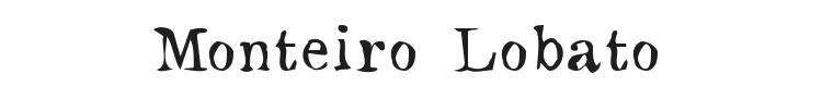 Monteiro Lobato Font