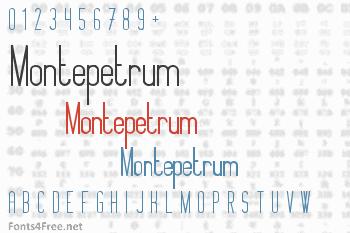 Montepetrum Font