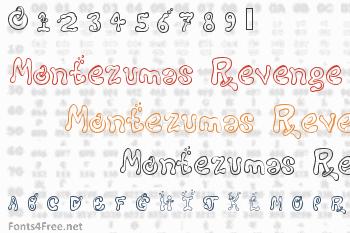Montezumas Revenge Font