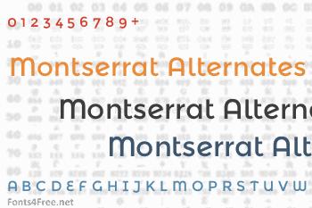 Montserrat Alternates Font