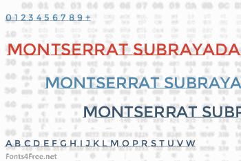 Montserrat Subrayada Font
