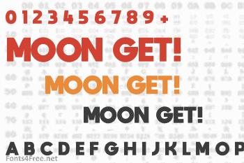Moon Get! Font