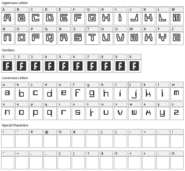 Moon Monkey Font Character Map