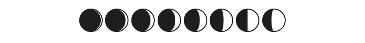 Moon Phases Font Preview
