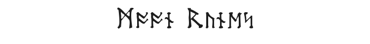 Moon Runes Font Preview