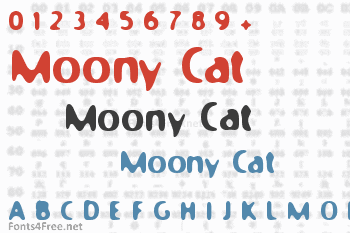 Moony Cat Font