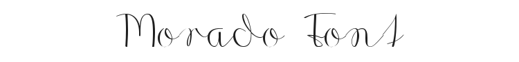 Morado Font Preview