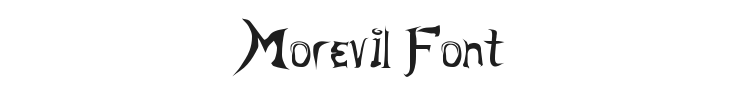 Morevil Font Preview