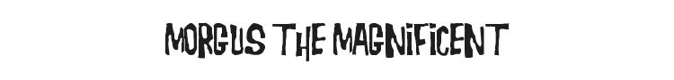 Morgus the Magnificent Font