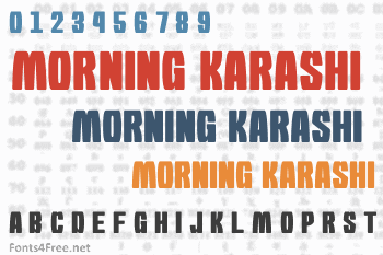 Morning Karashi Font