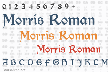 Morris Roman Font