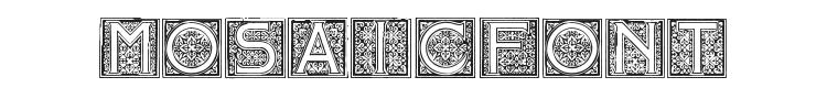 Mosaic Initials Font