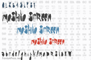 Moskito Screen Font