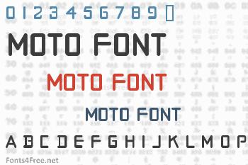 Moto Font