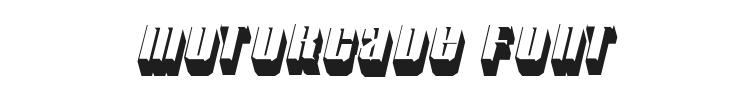 Motorcade Font Preview