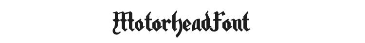 Motorhead Font Preview