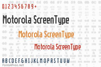 Motorola ScreenType Font