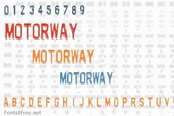 Motorway Font
