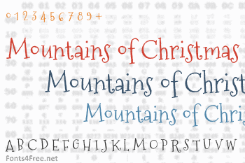 Mountains of Christmas Font