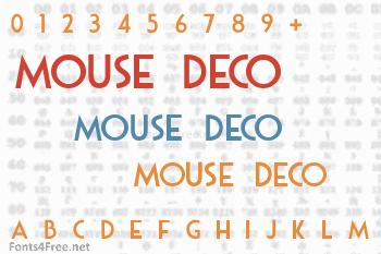 Mouse Deco Font