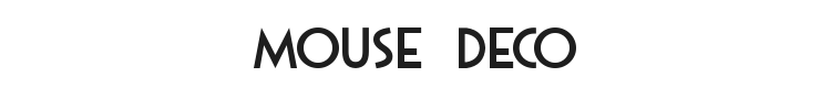 Mouse Deco Font Preview