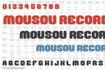 Mousou Record Font