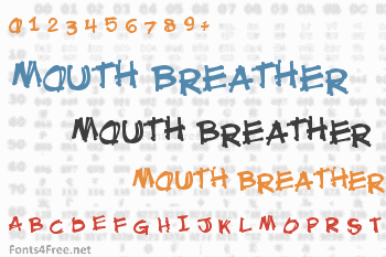 Mouth Breather Font