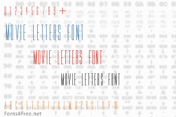 Movie Letters Font