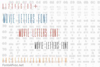 Movie Letters Font
