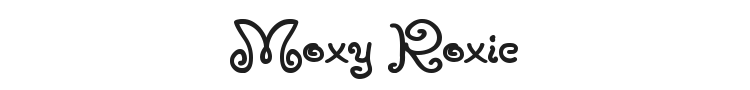 Moxy Roxie Font Preview
