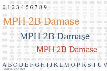 MPH 2B Damase Font