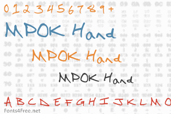 MPOK Hand Font
