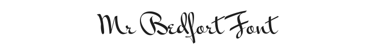 Mr Bedfort Font Preview