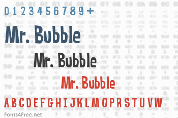 Mr. Bubble Font