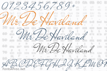 Mr De Haviland Font