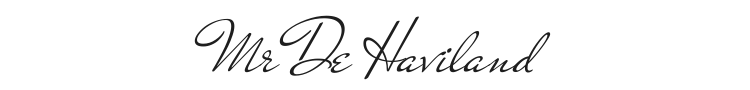 Mr De Haviland Font Preview