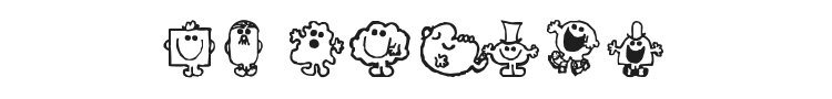 Mr Men Font Preview