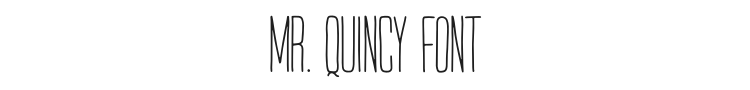 Mr. Quincy Font Preview