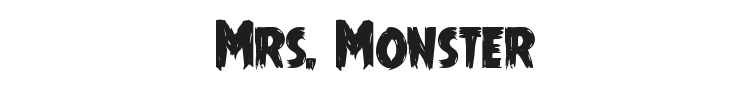 Mrs. Monster Font Preview