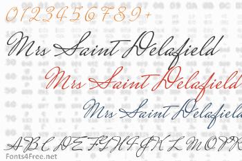 Mrs Saint Delafield Font
