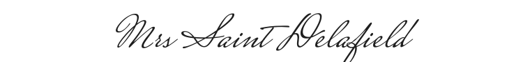 Mrs Saint Delafield Font Preview