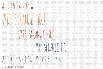 Mrs Strange Font